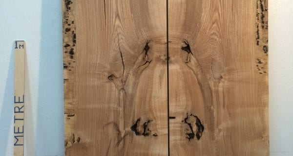 OLIVE ASH 4.2cm thick - tree number 1336 PAR Planed All Round Square Edge Kiln Dried Seasoned Hardwood Timber Board Table Top Bookmatched Set