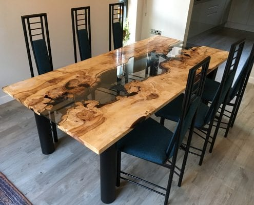 reputable site 461ed 2db1b Burr Horse Chestnut River Dining Table - The Wood Place
