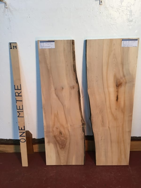 MAPLE REVERSE BOOKMATCHED RIVER SET Natural Waney Live Edge 1569-3B/4B