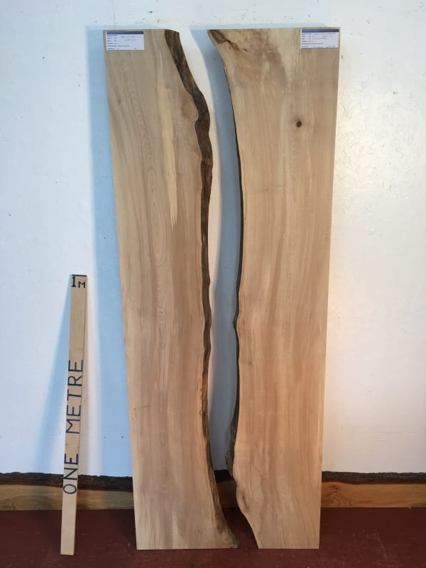 MAPLE REVERSE BOOKMATCHED RIVER SET Natural Waney Live Edge Board 1565E-1/2