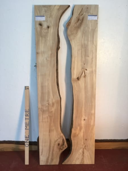 MAPLE REVERSE BOOKMATCHED RIVER SET Natural Waney Live Edge Board 1565E-3/4