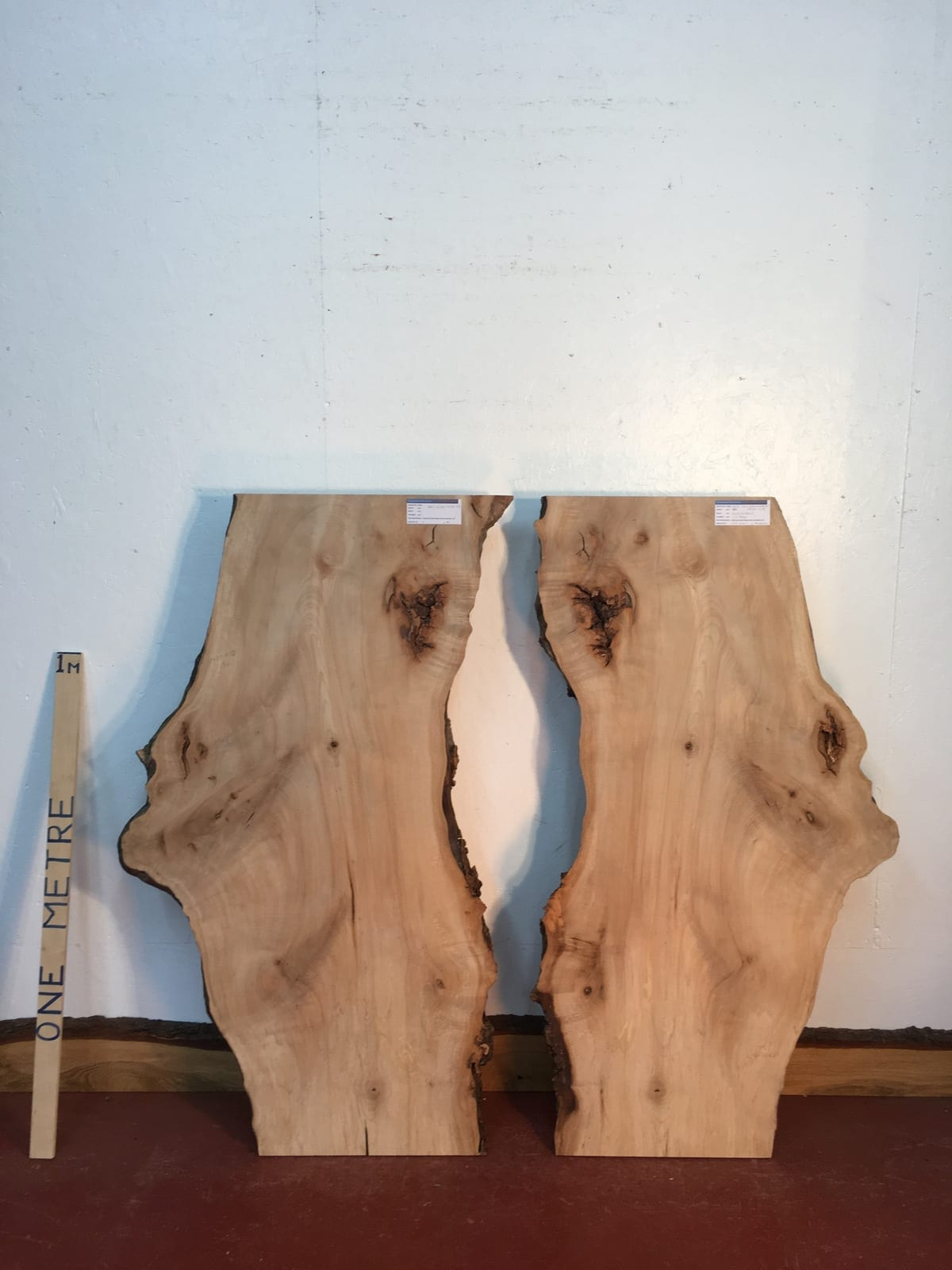 MAPLE BOOKMATCHED SET Natural Waney Live Edge Board 1575B-4/5