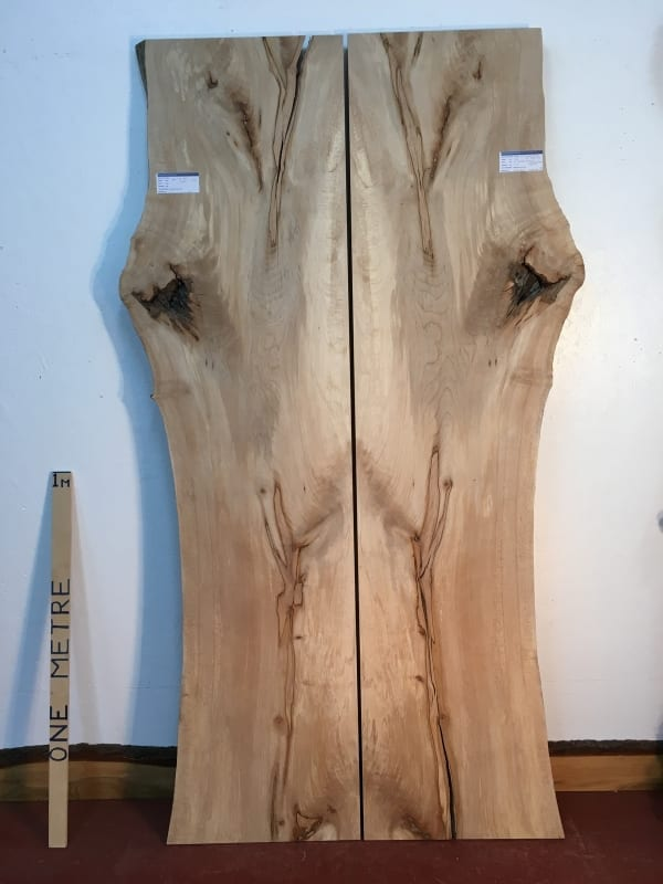MAPLE BOOKMATCHED SET Natural Waney Live Edge Board 1565C-4/5