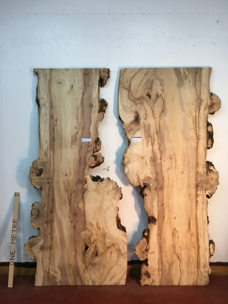 BURRY HORSE CHESTNUT REVERSE BOOKMATCHED SET Natural Waney Live Edge Board 1390B-4/5